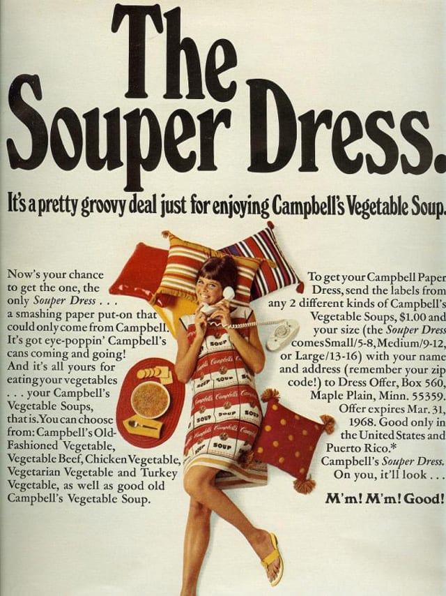 Campbell's Souper Dress ad from 1968